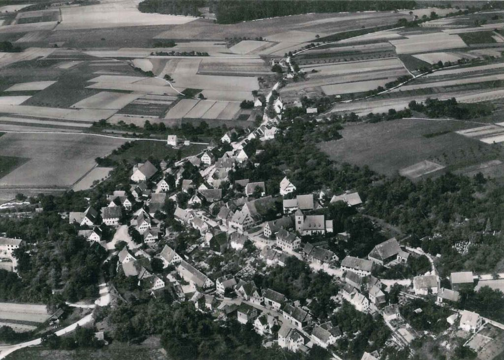 1955 Michelbach aus der Luft aus Richtung Süd