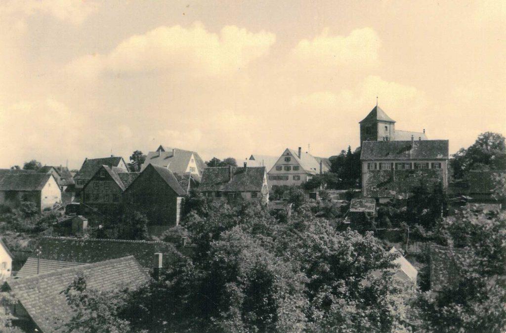 1955 Michelbach von Langenburg her kommend (Dörrsteige)