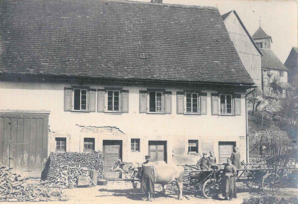 Das alte Haus Kronbach in der Liebesdorfer Straße, jetzt Familie Armin Schnecke