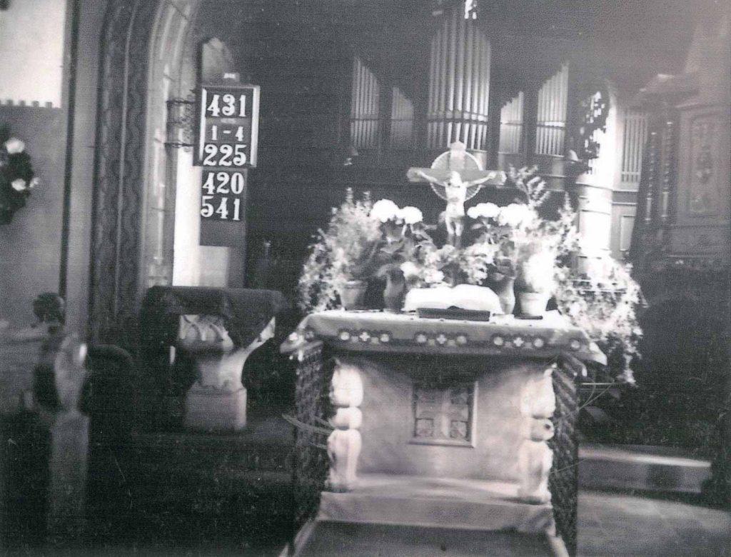 Innenraum der Kirche vor 1970