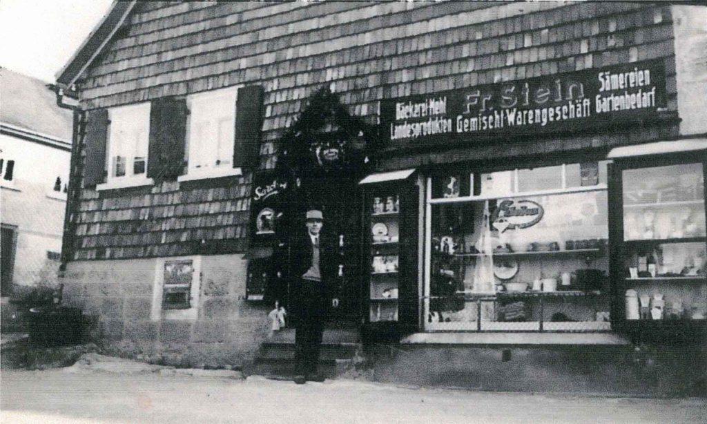1941 Das frühere Gemischtwarengeschäft Stein