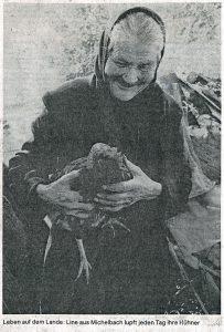 Traubingers Line lupft täglich ihre Hühner