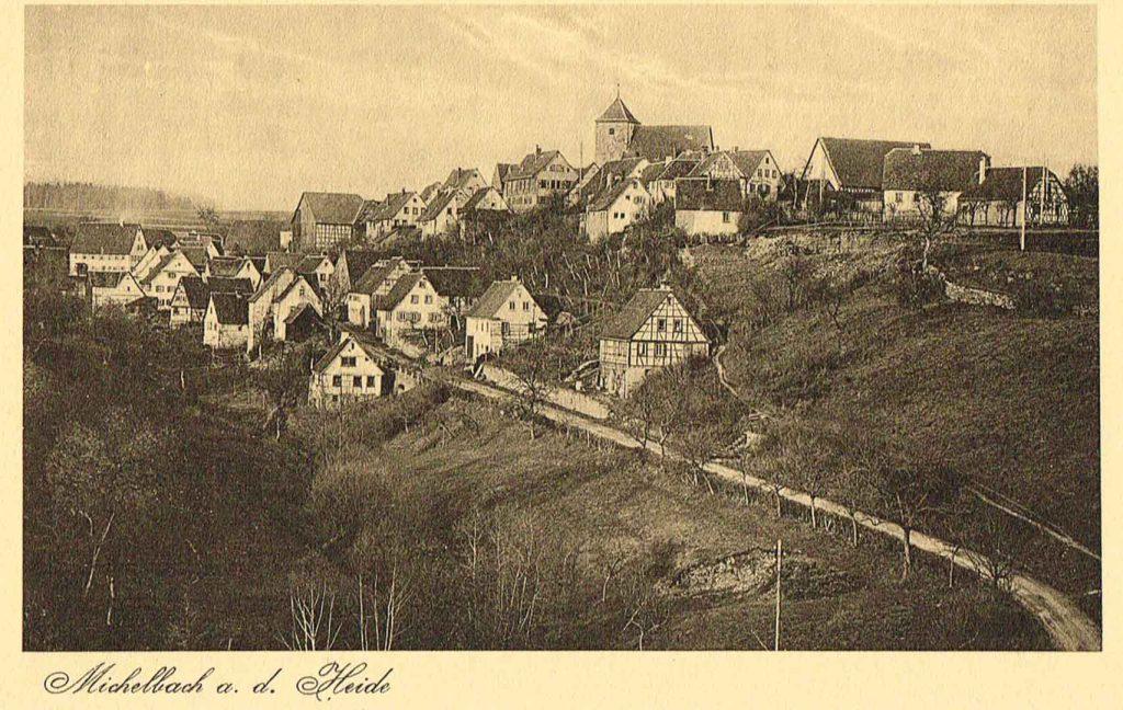 Postkarte Michelbach um 1920
